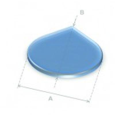 Glazen vloerplaat druppel 90x90 cm