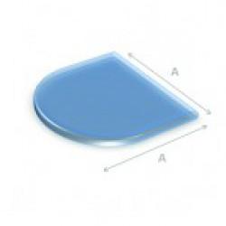 Glazen vloerplaat halfrond  100x100 cm
