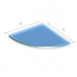Glazen vloerplaat kwartrond 80x80 cm