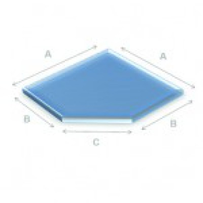 Glazen vloerplaat schuine kant 90x90 cm