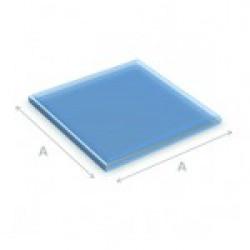 Glazen vloerplaat vierkant 80x80 cm