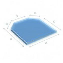 Glazen vloerplaat zeskant  80x80 cm