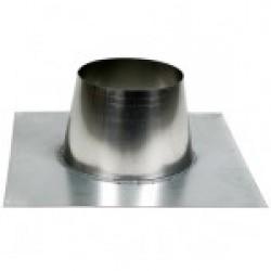 Dakplaat plat 0 - 10 graden met RVS stut